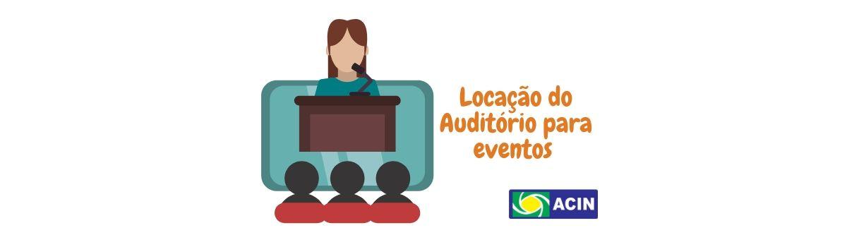 Locação do Auditório para cursos e eventos em Niquelândia