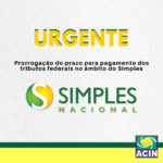 Prorrogação do prazo para pagamento dos tributos federais no âmbito do Simples em função dos impactos da pandemia do Convid-19