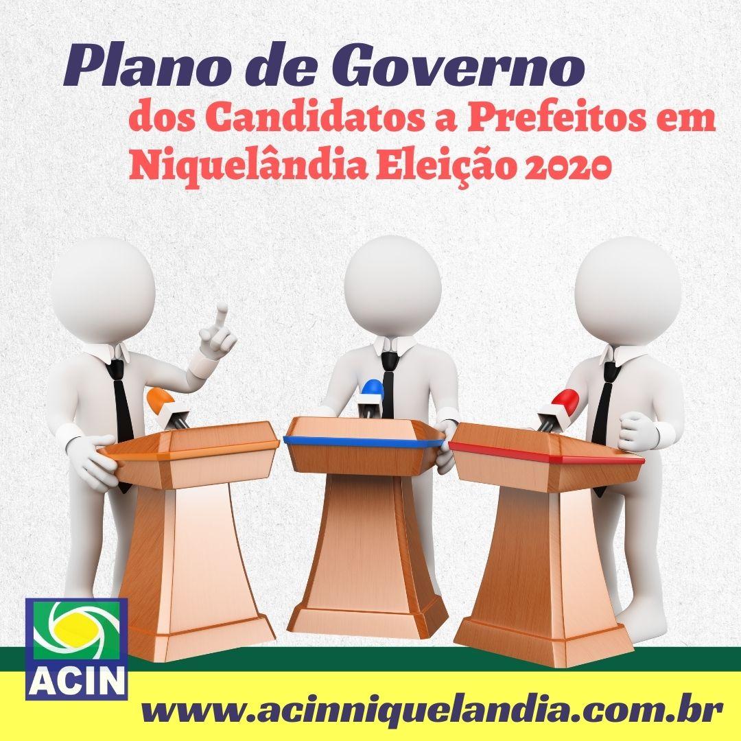 Plano de Governo dos Candidatos a Prefeitos em Niquelândia Eleição 2020