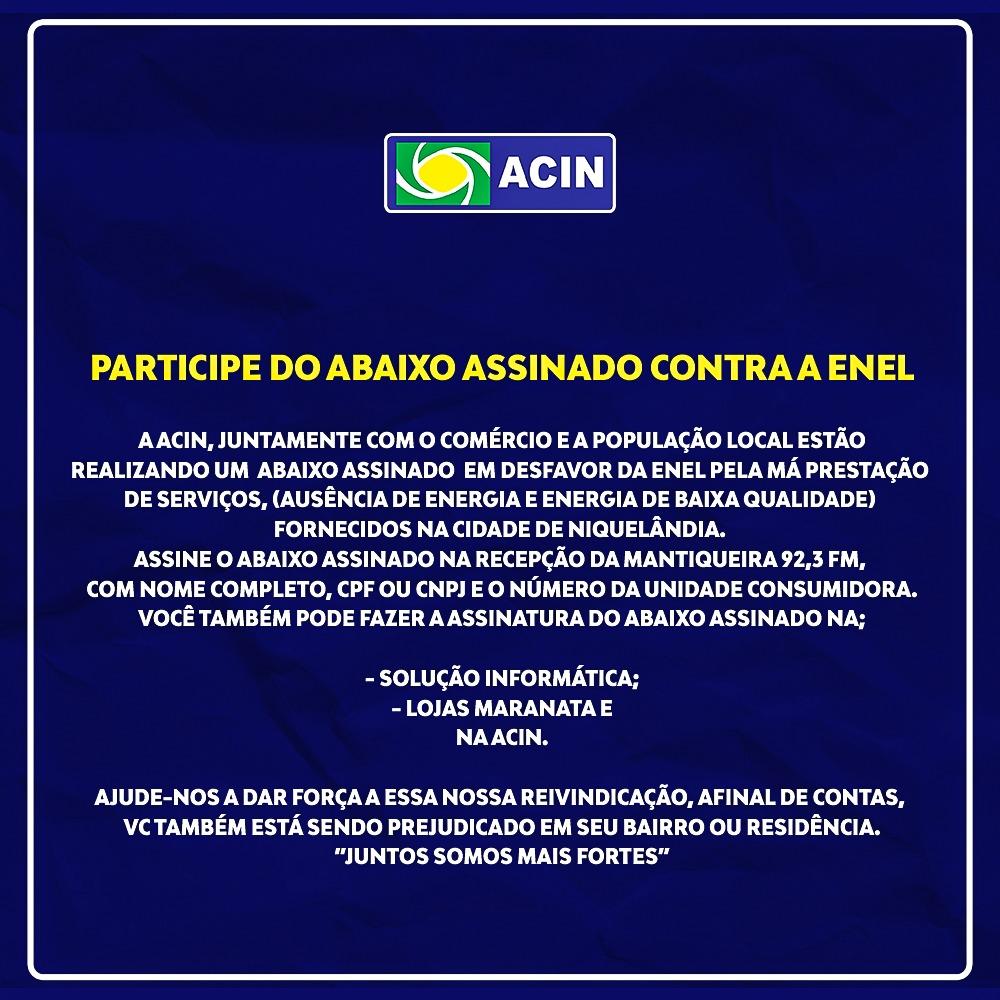 ABAIXO ASSINADO CONTRA A ENEL